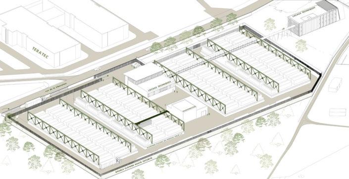 Big Data Center - Axonométrie
